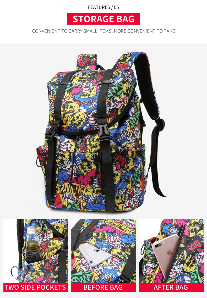 Oxford Waterproof Large Capacity Laptop Backpack School Bag for girls and boys
