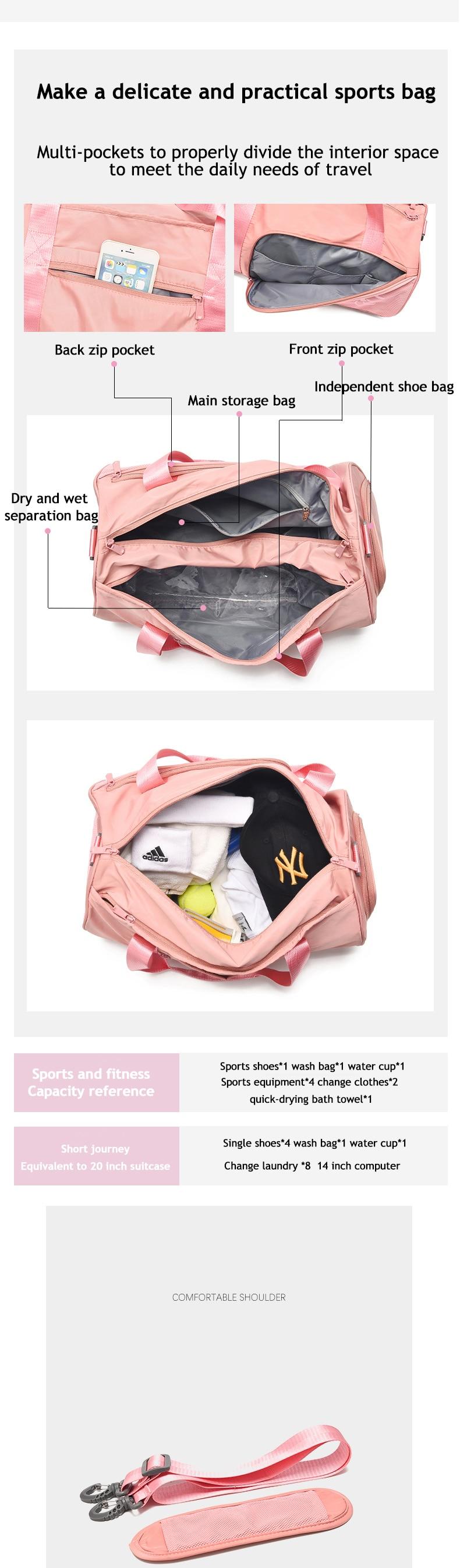 Women Gym Sport Fitness Yoga Femme Travel shoulder bag
